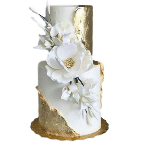 elegant wedding cake with peonies and roses 13
