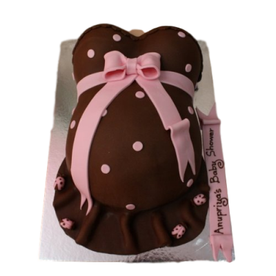 Pregnant tummy cake 2