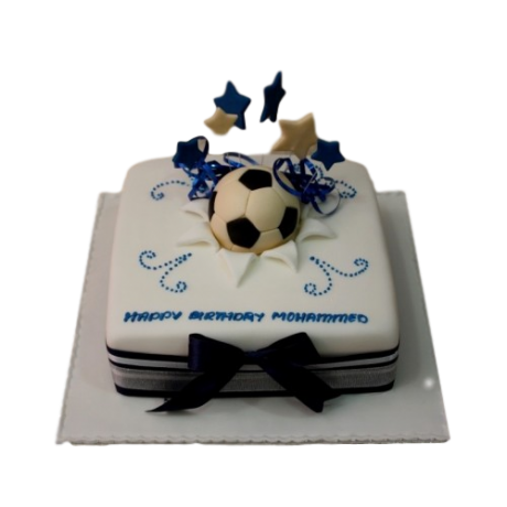 football cake 9 6