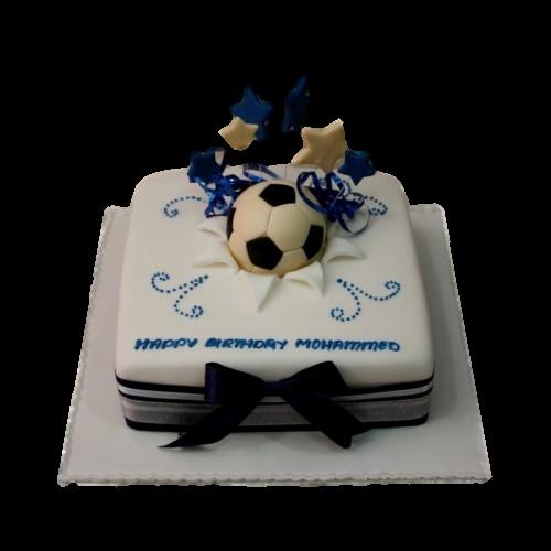 football cake 9 7