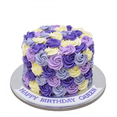 white purple violet swirls cake 6