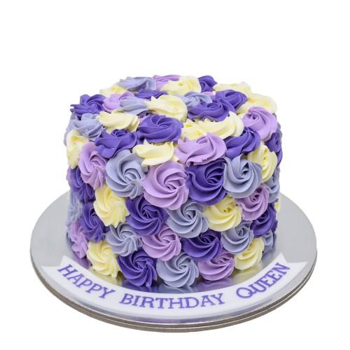 white purple violet swirls cake 7
