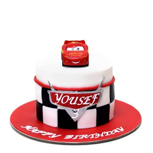 disney cars mcqueen cake 6 7