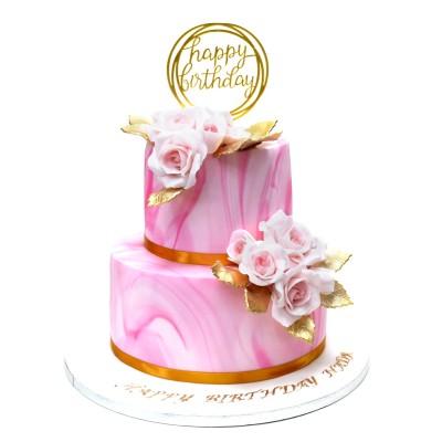 Pink Marble Cake 2