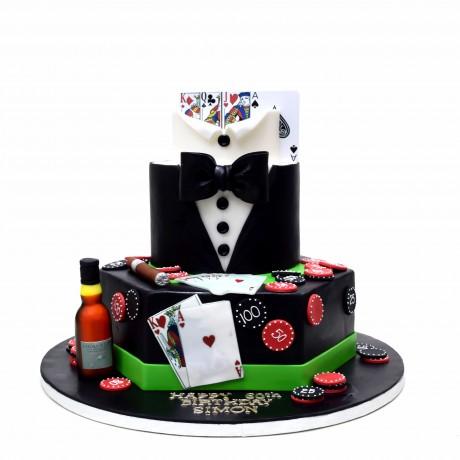 poker cake 4 6