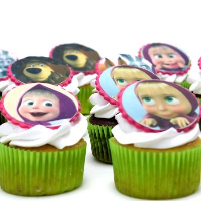 Masha and bear cupcakes