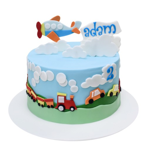 Transport theme cake 2