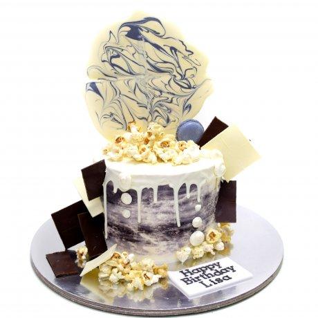dripping white chocolate cake 6