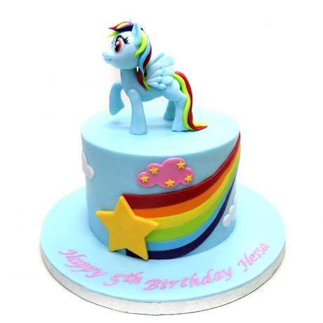 my little pony rainbow dash cake 6