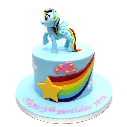 my little pony rainbow dash cake 7