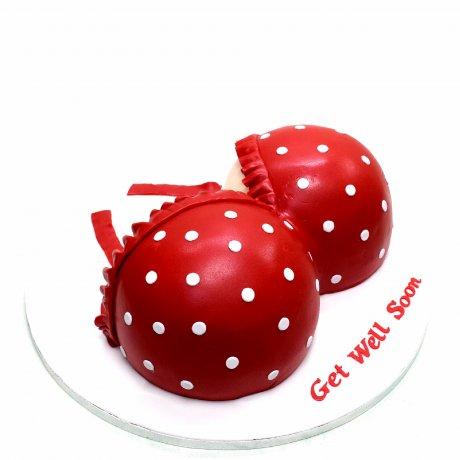 Red lingerie bra cake