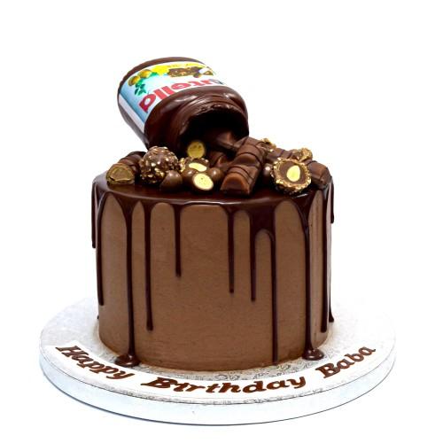 nutella drip cake 7