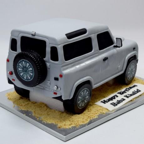 jeep shape cake 7