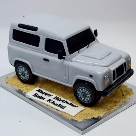 jeep shape cake 6