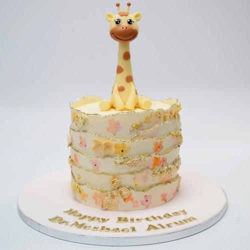 cute sofia giraffe cake 7