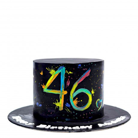 colour splash 46th birthday cake 6