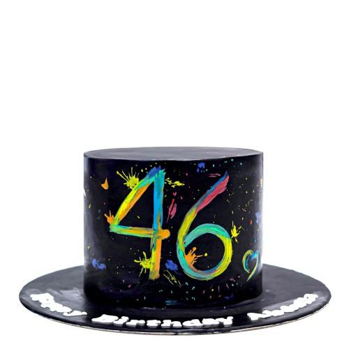 colour splash 46th birthday cake 7