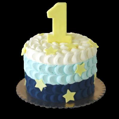 First birthday smash cake 2