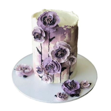 cake with purple flowers 2 6