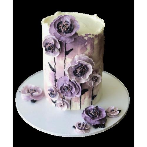 cake with purple flowers 2 7