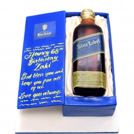 Blue Label Whiskey Box Cake