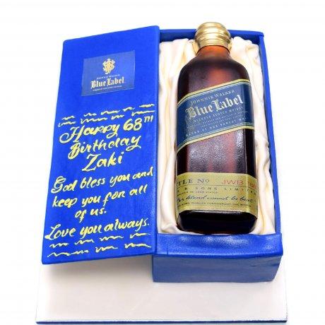 blue label whiskey box cake 6