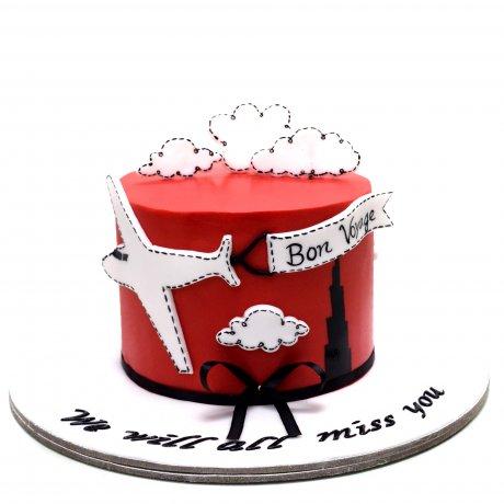 bon voyage farewell cake 2 6