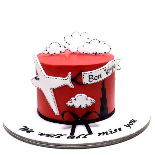 bon voyage farewell cake 2 7