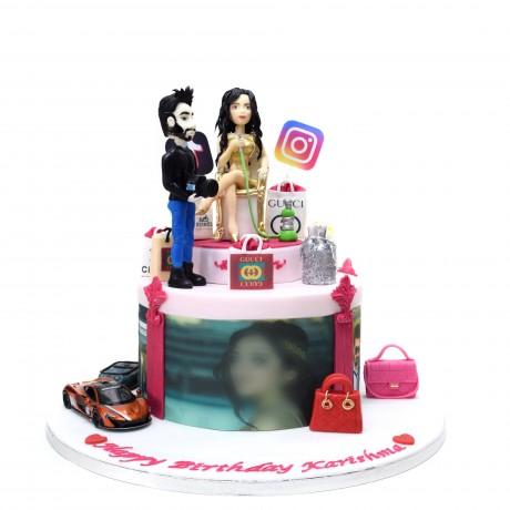 fashion and lifestyle influencer cake 6