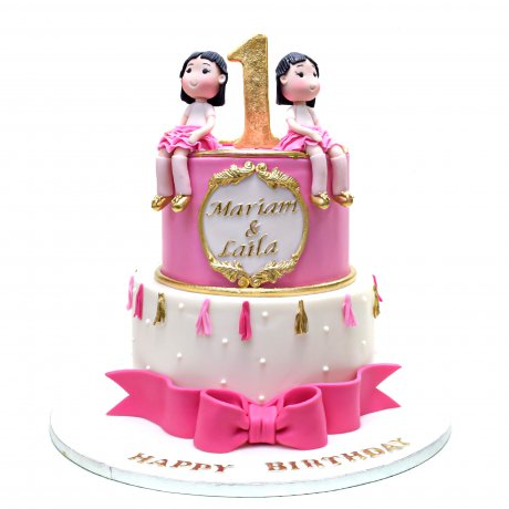 cake for twin girls 1 6