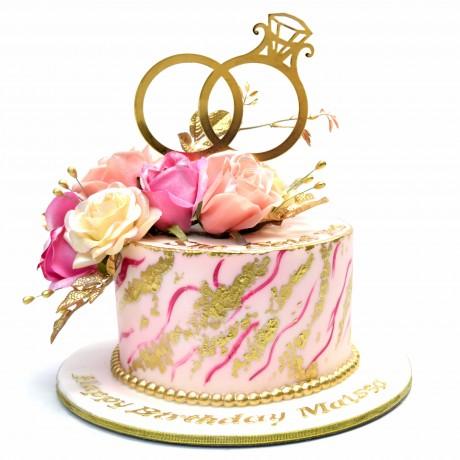 engagement cake 7 6