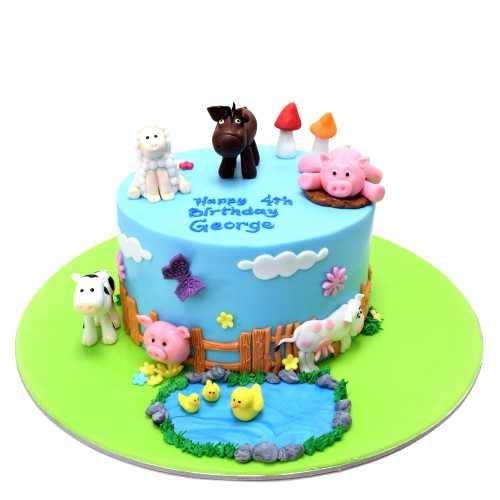 Farm Animals Cake 16