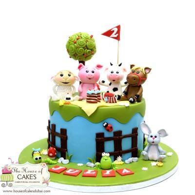 Farm animals cake 15