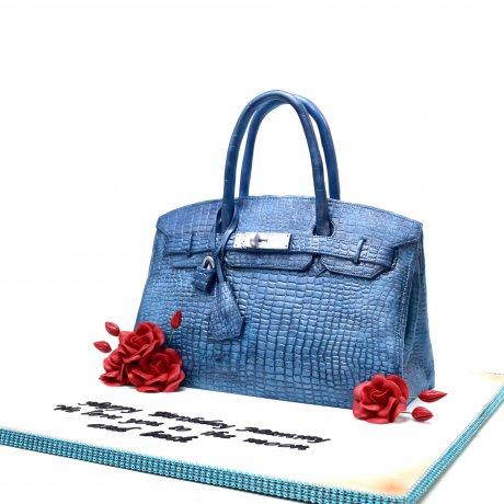 hermes bag cake blue 6