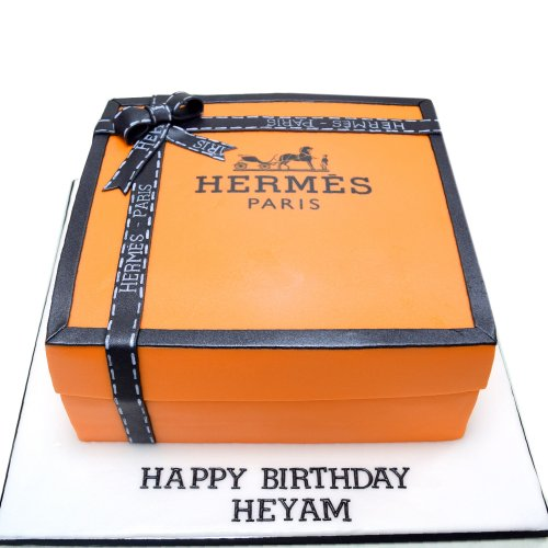 Hermes box cake 2