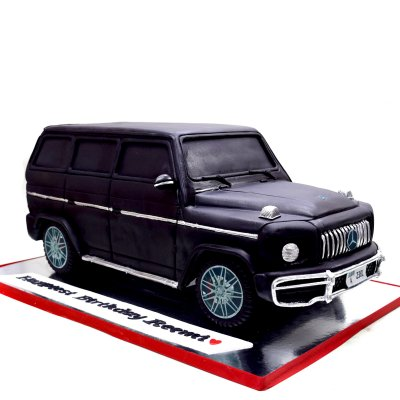 3D Mercedes Jeep Car Cake Black