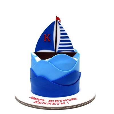 Sailing boat cake 5