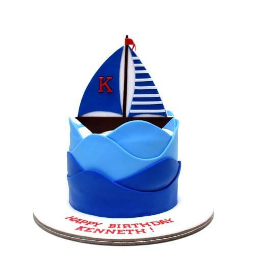 sailing boat cake 5 13