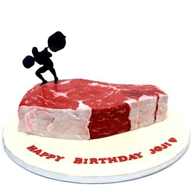 Steak shaped cake