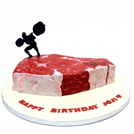 steak shaped cake 6
