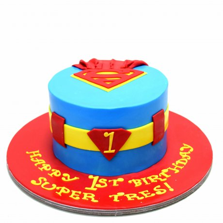 superman cake 6 6