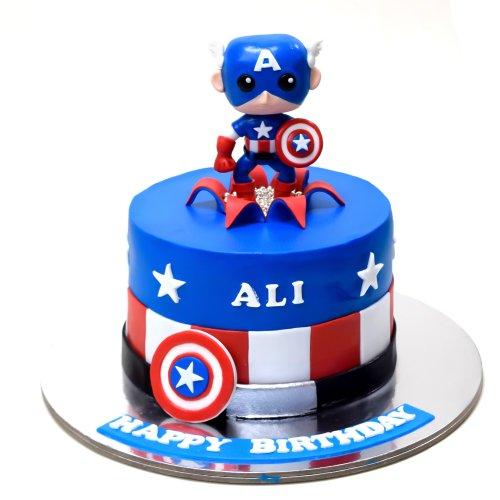captain america cake 1 7