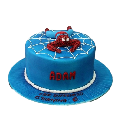 Spiderman cake 16