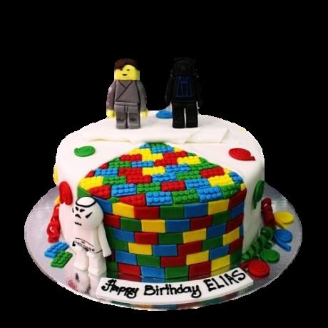 star wars lego cake 6