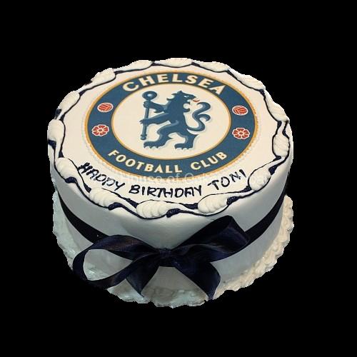 Magnificent Chelsea Cake 3 Personalised Birthday Cards Veneteletsinfo