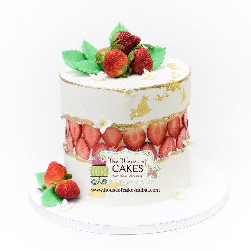fault line cake with strawberries 7
