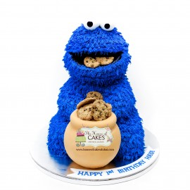 Cookie Monster Cake 5