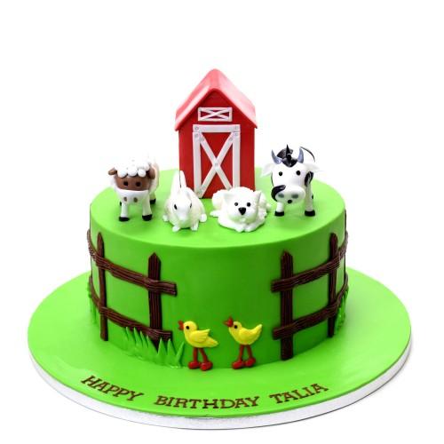 farm animals cake 10 8