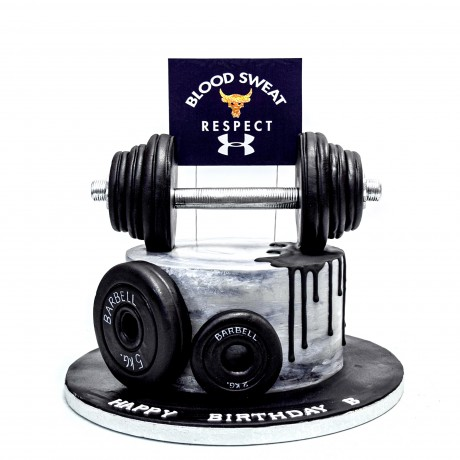 fitness bodybuilder weightlifting cake 6