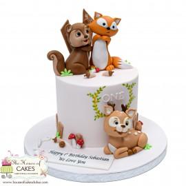 Forest Animals Cake 1